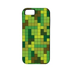 Tetris Camouflage Forest Apple Iphone 5 Classic Hardshell Case (pc+silicone)