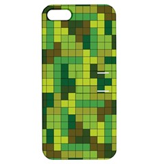 Tetris Camouflage Forest Apple Iphone 5 Hardshell Case With Stand
