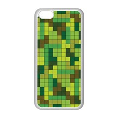 Tetris Camouflage Forest Apple Iphone 5c Seamless Case (white)