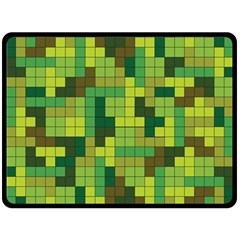 Tetris Camouflage Forest Double Sided Fleece Blanket (large)