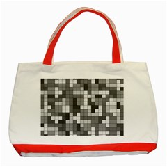 Tetris Camouflage Urban Classic Tote Bag (red)