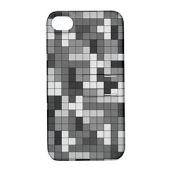 Tetris Camouflage Urban Apple Iphone 4/4s Hardshell Case With Stand
