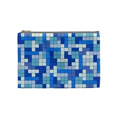 Tetris Camouflage Marine Cosmetic Bag (medium)