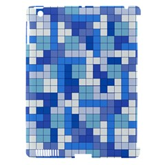 Tetris Camouflage Marine Apple Ipad 3/4 Hardshell Case (compatible With Smart Cover)