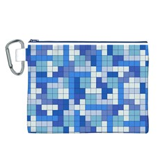 Tetris Camouflage Marine Canvas Cosmetic Bag (l)