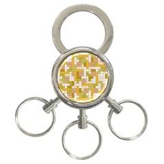 Tetris Camouflage Desert 3 Ring Key Chains
