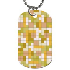 Tetris Camouflage Desert Dog Tag (two Sides)