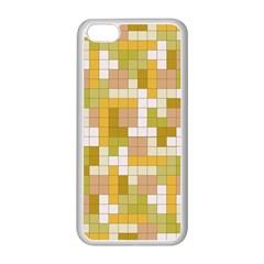 Tetris Camouflage Desert Apple Iphone 5c Seamless Case (white)