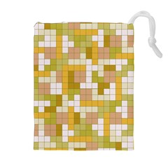 Tetris Camouflage Desert Drawstring Pouches (extra Large)