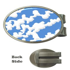 Cloud Lines Money Clips (oval)
