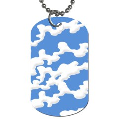 Cloud Lines Dog Tag (two Sides)