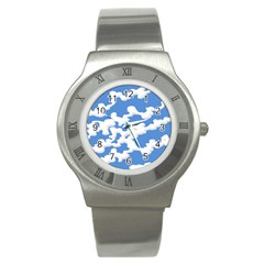 Cloud Lines Stainless Steel Watch