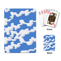 Cloud Lines Playing Card