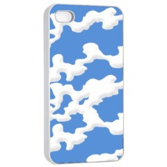 Cloud Lines Apple Iphone 4/4s Seamless Case (white)