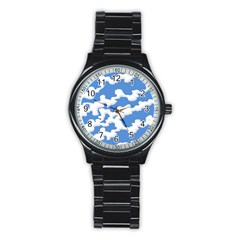 Cloud Lines Stainless Steel Round Watch