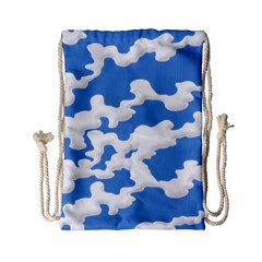 Cloud Lines Drawstring Bag (small)