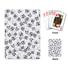 A Lot Of Skulls White Playing Card