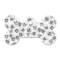 A Lot Of Skulls White Dog Tag Bone (two Sides)