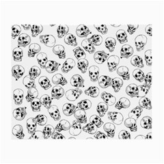 A Lot Of Skulls White Small Glasses Cloth (2 Side)
