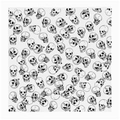 A Lot Of Skulls White Medium Glasses Cloth