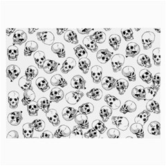 A Lot Of Skulls White Large Glasses Cloth (2 Side)