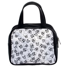 A Lot Of Skulls White Classic Handbags (2 Sides)