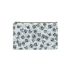 A Lot Of Skulls White Cosmetic Bag (small)