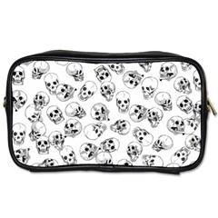 A Lot Of Skulls White Toiletries Bags 2 Side