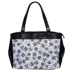 A Lot Of Skulls White Office Handbags