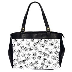 A Lot Of Skulls White Office Handbags (2 Sides)