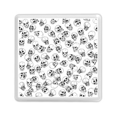 A Lot Of Skulls White Memory Card Reader (square)