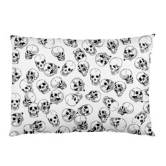 A Lot Of Skulls White Pillow Case (two Sides)