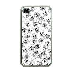 A Lot Of Skulls White Apple Iphone 4 Case (clear)