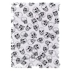 A Lot Of Skulls White Apple Ipad 3/4 Hardshell Case (compatible With Smart Cover)