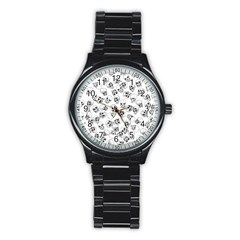 A Lot Of Skulls White Stainless Steel Round Watch
