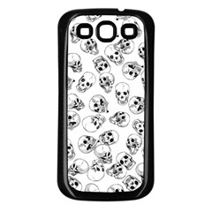 A Lot Of Skulls White Samsung Galaxy S3 Back Case (black)