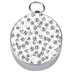 A Lot Of Skulls White Silver Compasses