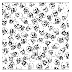 A Lot Of Skulls White Large Satin Scarf (square)
