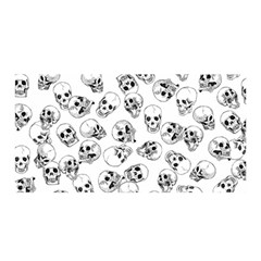 A Lot Of Skulls White Satin Wrap