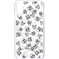 A Lot Of Skulls White Apple Iphone X Seamless Case (white)