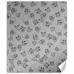 A Lot Of Skulls Grey Canvas 8  X 10