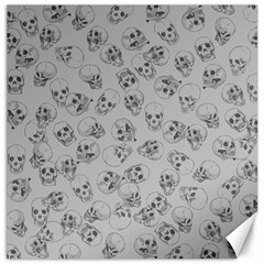 A Lot Of Skulls Grey Canvas 12  X 12