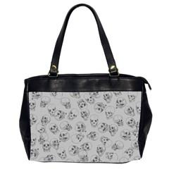 A Lot Of Skulls Grey Office Handbags (2 Sides)