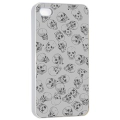 A Lot Of Skulls Grey Apple Iphone 4/4s Seamless Case (white)