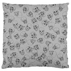 A Lot Of Skulls Grey Large Cushion Case (two Sides)