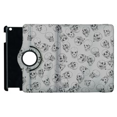 A Lot Of Skulls Grey Apple Ipad 3/4 Flip 360 Case