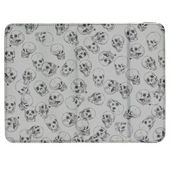 A Lot Of Skulls Grey Samsung Galaxy Tab 7  P1000 Flip Case