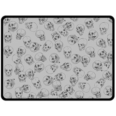 A Lot Of Skulls Grey Double Sided Fleece Blanket (large)
