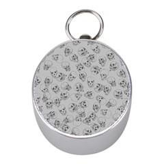 A Lot Of Skulls Grey Mini Silver Compasses