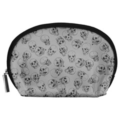 A Lot Of Skulls Grey Accessory Pouches (large)
